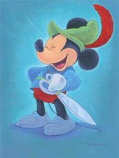 """Happy Hero"" by Bret Iwan - Limited Edition of 195 on Canvas, 24x18.  #Disney #MickeyMouse #DisneyFineArt #BretIwan"