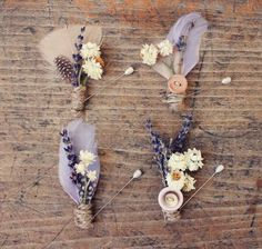 Dried lavender and feathers