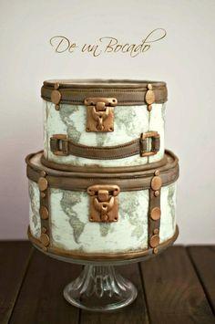 Vintage travel cake - Cake by Carmen