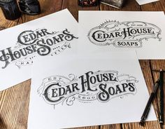 """typegang: """" Fantastic type logo sketches. Type by @tobiassaul - #typegang - typegang.com http://typg.co/2cKBccy   http://typegang.com """""""