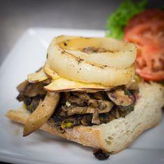 Mushroom Gouda Burger