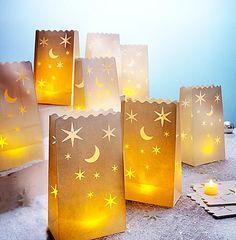 Lichttüten und LED-Teelichter, 20-tlg. Set