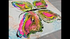 Acrylic Pour Painting: Turning A Puddle Pour Into A Multi-Colored Butter...
