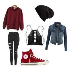"""""""Untitled #7"""" by timca2005 on Polyvore featuring Topshop, Converse, Free People and LE3NO"""