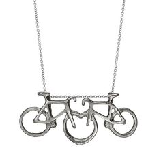 I like this, a lot. Love on Two Wheels Necklace from uncommongoods