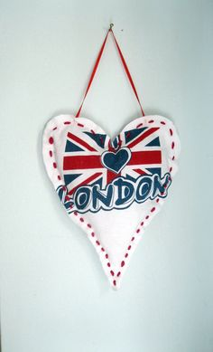 Heart Fabric Heart London U.K. Flag Wall by mailordervintage