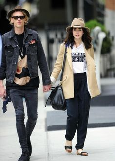 Lily Collins and James Campbell Bower