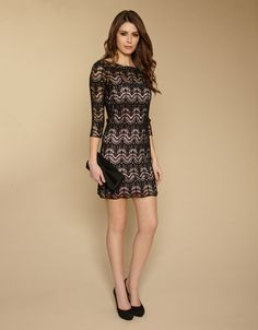 Black crochet usually looks a bit 70s but this looks chic and a bit Kate Middleton