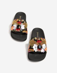Sandals with fabric upper - All | Stradivarius United Kingdom