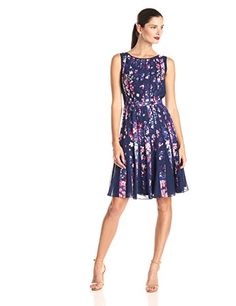 Adrianna Papell Women's Sleeveless Pleated Floral Printed Fit and Flare Dress, Blue/Multi, 8 Adrianna Papell http://smile.amazon.com/dp/B00OCL85CI/ref=cm_sw_r_pi_dp_w03kvb155EF32