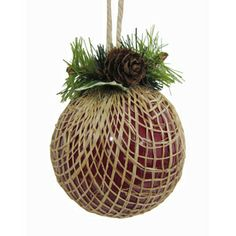 Holiday Living�Red Wrapped Ball Ornament