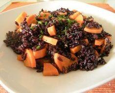 Riz noir aux carottes, cumin et huile de noix (GP) - Je mange donc je maigris