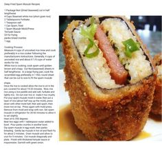 Deep fried spam musubi