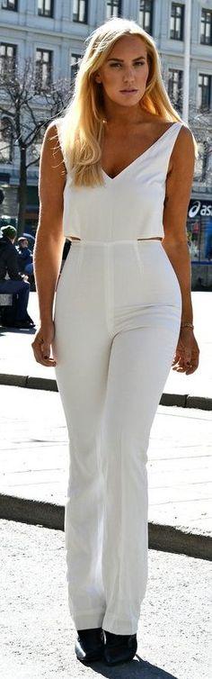 H&M Conscious White Jumpsuit