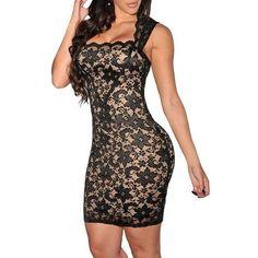 Clubwear Vintage Bodycon Lace Dress *Plus
