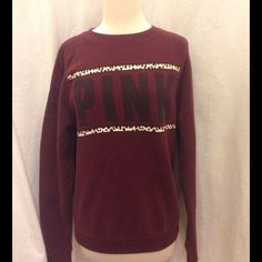 Victoria secret maroon crew cheetah Victoria secret vs pink preloved size xs this one is not oversized PINK Victoria's Secret Sweaters Crew & Scoop Necks Victoria Secret Outfits, Victoria Secret Pink, Pink Outfits, Cute Outfits, Pink Nation, Pinterest Fashion, Cute Pink, Fall Winter Outfits, Sweater Jacket