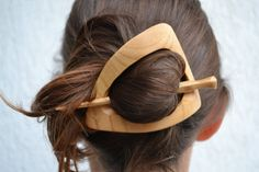 Wood Triangle Hair Clip, Hair Barrette, Hair Pin, Hair Stick, Slide, Wooden Shawl Pin, Haarstab, Womens Gift, Gift for Her, Wife, Moms, Wood