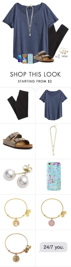 """Me... Overreacting?!!!? Probably "" by remiii13 ❤ liked on Polyvore featuring American Eagle Outfitters, H&M, Birkenstock, Vince Camuto, Mikimoto, Lilly Pulitzer and Alex and Ani"