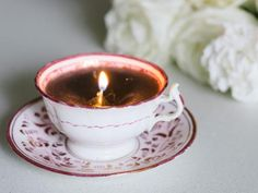 HOW TO teacup candle