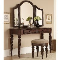 Arbor Place Brown Traditional 3-Piece Vanity Set