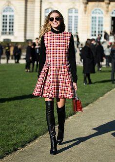 olivia palermo vestido xadrez