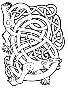 After two days of doing sketches and another two days of photoshoping I proudly present my first celtic animal artwork - The Boar. In celtic mythology i. Viking Art, Viking Symbols, Celtic Patterns, Celtic Designs, Art Patterns, Zentangle Patterns, Norse Tattoo, Celtic Tattoos, Tattoo Symbols