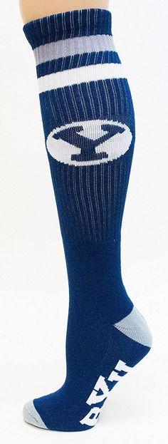 BYU Brigham Young NCAA Blue Knee High Tube Socks - Donegal Bay