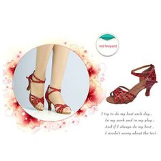 Womens Peep toe Sandals Latin Salsa Tango Practice Ballroom Dance Shoes with 236 Heel *** Find out more about the great product at the image link.