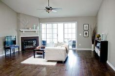 living room -- Paint Color: Valspar's Bonsai at Lowes http ...