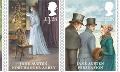 Jane Austen 200th anniversary Royal Mail stamps | #reading (Oh, how I wish the U.S.P.S. could issue these, too.)
