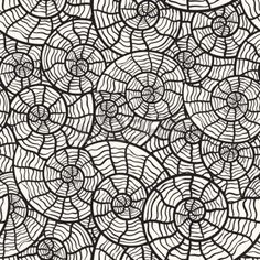 seamless monochrome pattern with sea shells Stock Photo - 9572284