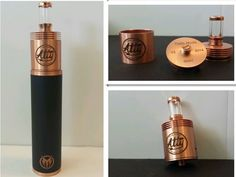 26650 Black and Copper Mutant Mechanical Mod with Copper TOBH Atty RDA Dripper