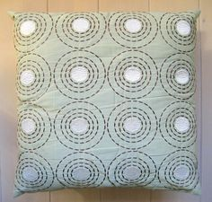 My silky Sashiko embroidered cushion