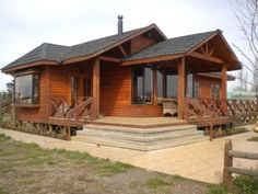 This amazing photo is surely an inspirational and fabulous idea Wood House Design, Cabin Design, Cottage Design, 2 Bedroom House Plans, Bungalow House Plans, Small House Plans, Cabin Homes, Log Homes, Bamboo House