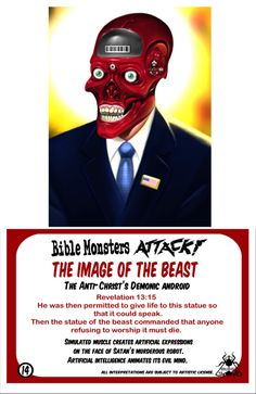 "Bible Monsters Attack! Trading card ""The image of the beast"""