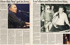 The night the killer, Jerry Lee Lewis, threatened to have me killed! Jerry Lee Lewis, Irish Times, Jackson, Articles, Night, Cute, Movies, Movie Posters, Films