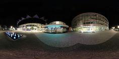 Panoramatická fotografie kongresového centra ve Zlíně