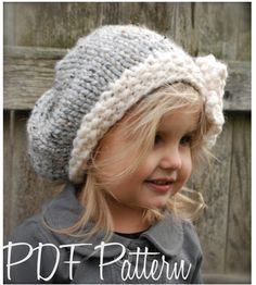 Knitting PATTERN-The Vivian Slouchy (Toddler, Child, Adult sizes) by Thevelvetacorn on Etsy https://www.etsy.com/listing/89911795/knitting-pattern-the-vivian-slouchy