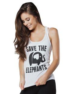 a49f14030 Save the Elephants White Tank Top. Elephant PantsSave The ElephantsKimono  CardiganTank ...