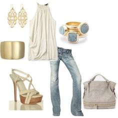 White and Gold Outfit