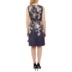 Buy Ted Baker Nillye Botanical Trail Bow Dress, Navy Online at johnlewis.com