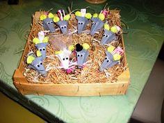 Geldgeschenke zur Hochzeit- Mäuse aus Eierkarton                              …