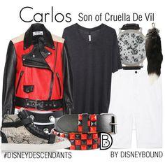Carlos: Son of Cruella De Vil by leslieakay on Polyvore featuring Raquel Allegra, Giuseppe Zanotti, Helmut Lang, H.I.P., disney, disneybound, disneycharacter and disneydescendants