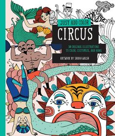 Just Add Color: Circus | 35 Livros de Colorir para Todas as Idades