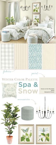 Winter color palette of spa and creams