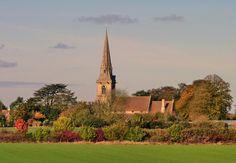Church in Autumn   Woburn, UK