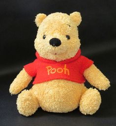 Gund Winnie the Pooh Disney Stuffed Plush Red Shirt 6 Inch