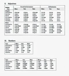 Latin Adjectives Endings Chart School Pinterest Teaching