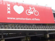 I love Amsterdam (red light district, bicycle)