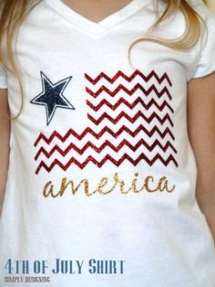 Fourth of July T-shirts using heat transfer vinyl. SO cute! I need to make some of these!: